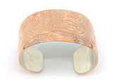 "Bracelet- J. Galanin: Mokume Gane, ""Eagle Surrounded by Raven"", 1-3/8"""