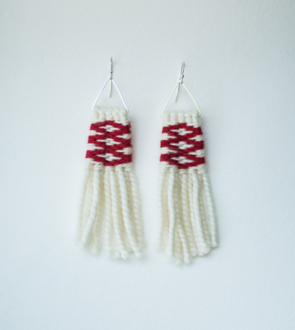 Earrings- Lily Hope: (C) Wool, Lattice