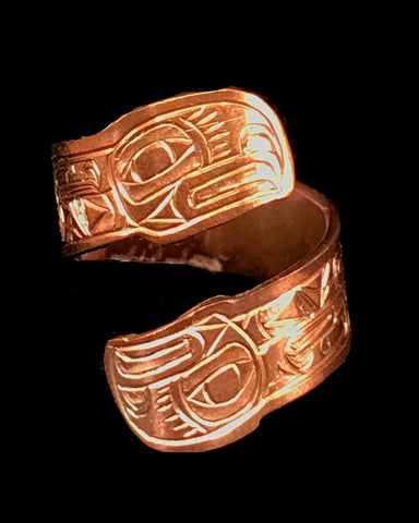 Ring- L. Chilton: Copper, Eagle, Adjustable Wrap