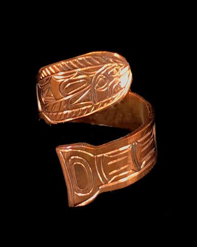 Ring- L. Chilton: Copper, Halibut, Adjustable Wrap
