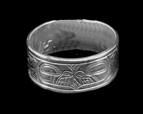 Ring- L. Chilton, Silver, Killer Whale