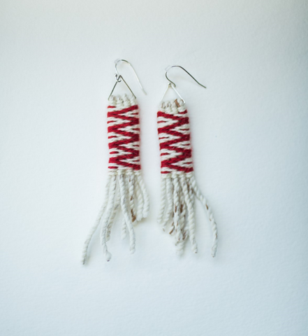 Earrings- Lily Hope: (C) Wool, Lightning, Long