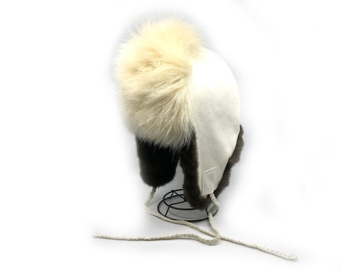 Fur Hat- M. Gho: Polar Bear Fur, Suede, & Sea Otter Fur