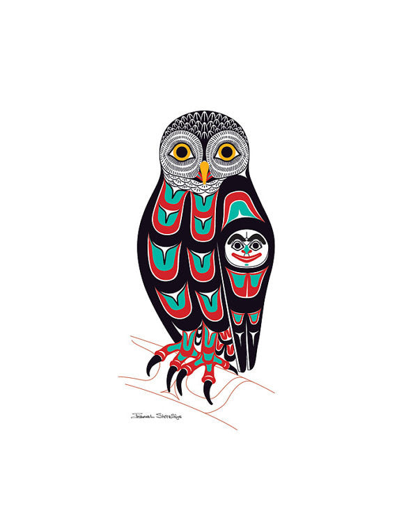 """Owl"" Art Print by Israel Shotridge"