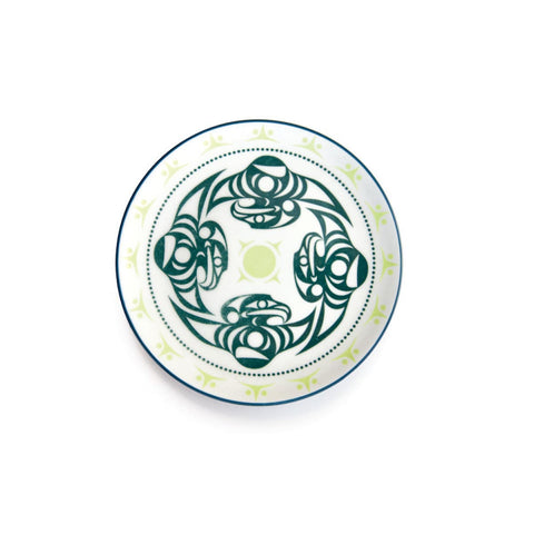 Plate- D. Thomas, Porcelain, Thunderbird, Gray/Green