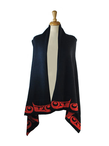 Vest- K. Bhi, Merino Wool, Eagle Wing, Red or White