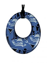 Pendant- C. Hunt; Round, Blue