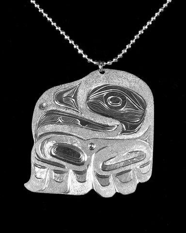 Pendant- S. Sheakley: Silver, Eagle w Chain
