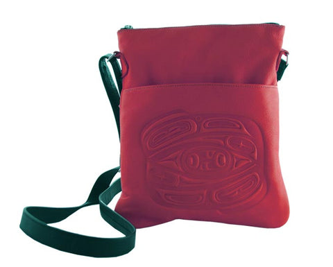 Bag- Solo, Raven, Leather, Red