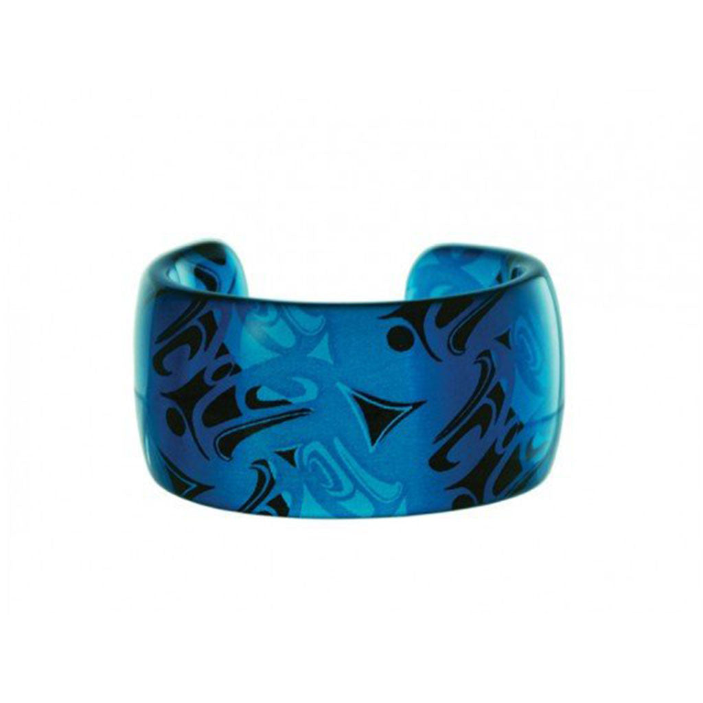Bracelet - Turquoise Lucite Cuff by Corrine Hunt