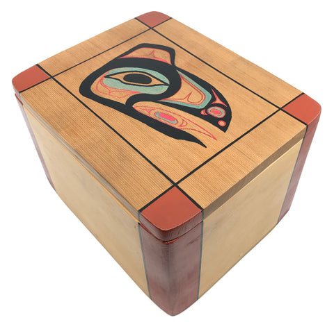 Urn- Z. Boxley, Traditional Bentwood Box
