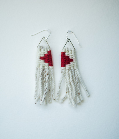 Earrings- Lily Hope: (C) Wool, Bear Tracks Refliection, Petite