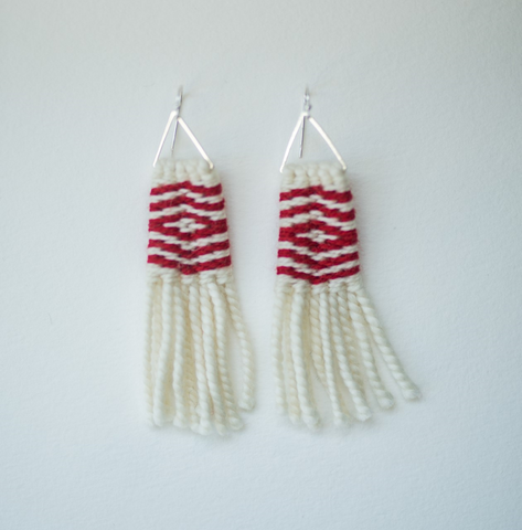 Earrings- Lily Hope: (C) Wool, Diamonds