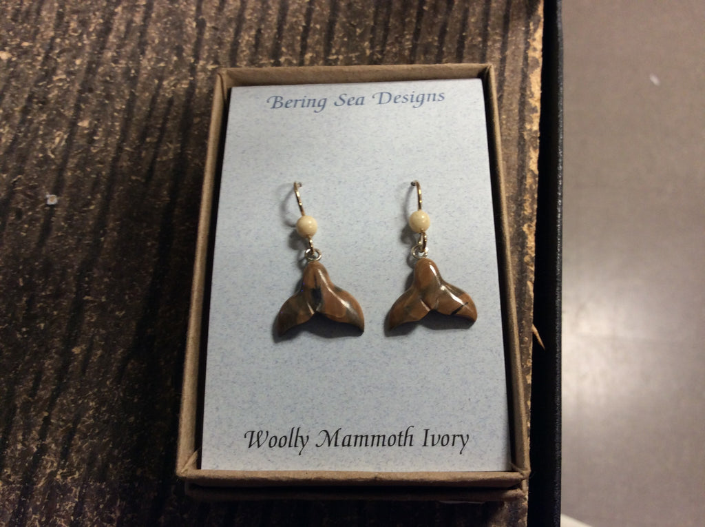 Earrings - Mammoth Ivory; Whaletail (2)