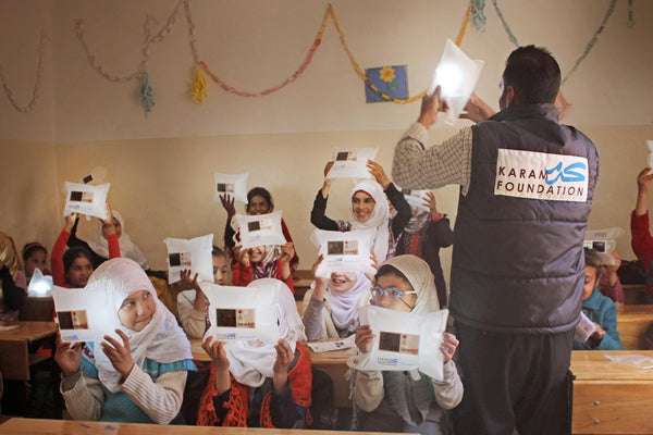 Karam Foundation Delivers LuminAID Lights and Smart Aid to Displaced Syrians