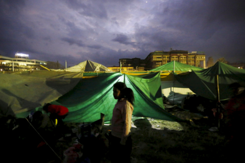 Nepal Earthquake Tent LuminAID