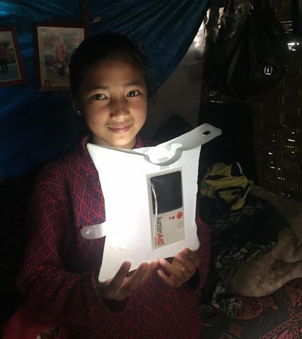 Nepal Girl LuminAID