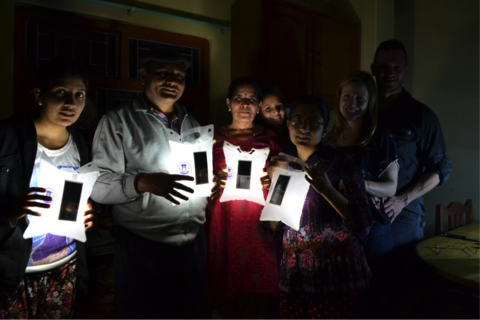 LuminAID Inflatable Solar Lights Nepal Earthquake Relief Night
