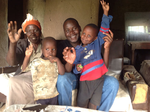Family excited upon receiving LuminAID solar lights