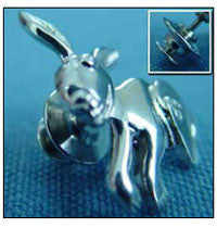 Bunny Pin - Sterling Silver