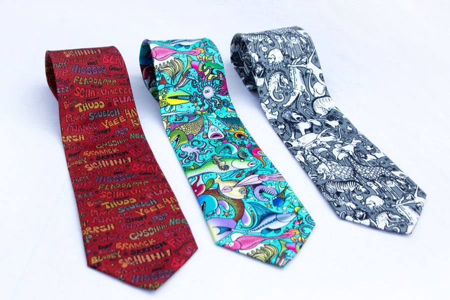 neck ties featuring lynn s fabric designs for better or for worse