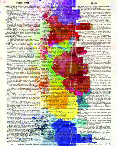 TN Skyline - Dictionary Art Print