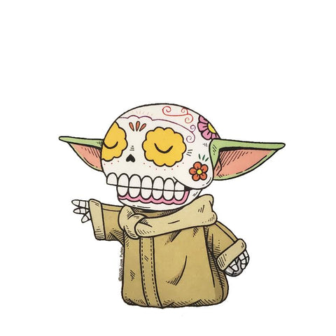 Baby Yoda - Day of the Dead Stickers