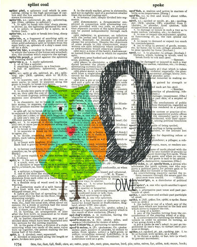 Dictionary Art Print Printed On Authentic Vintage Dictionary Book Page - 8 x 10.5 - Alphabet Letter O