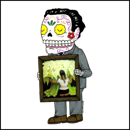Diego Painting - Day of the Dead Sticker