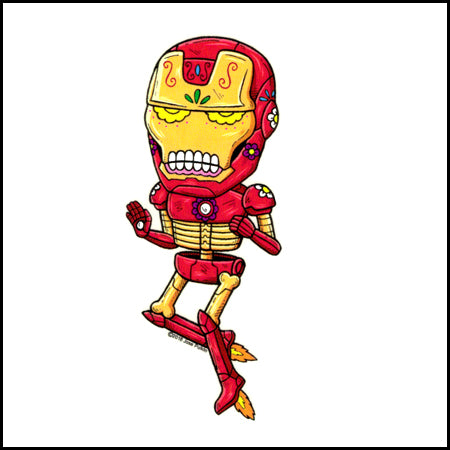 Iron Man - Day of the Dead Sticker