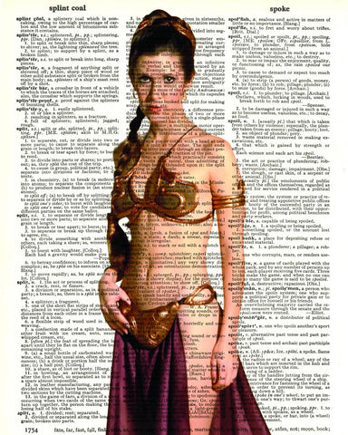Slave Leia - Dictionary Art Print