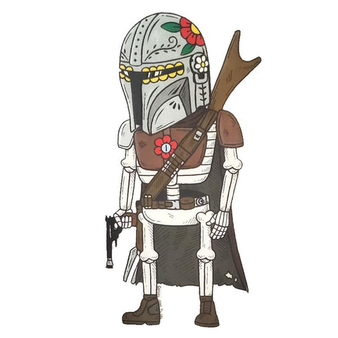 Mandalorian - Day of the Dead Stickers