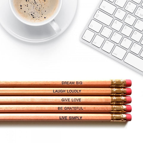 Positive Affirmations - Inspirational Pencils