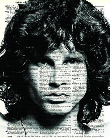 Jim Morrison - Dictionary Art Print