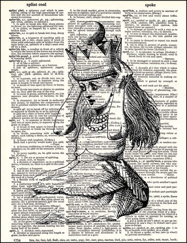An image of a(n) Alice Crown Dictionary Art Print.