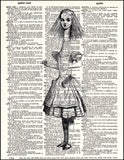 An image of a(n) Alice Stretch Dictionary Art Print.