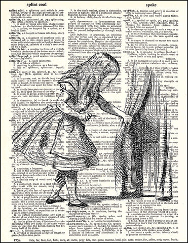 An image of a(n) Alice and Door Dictionary Art Print.