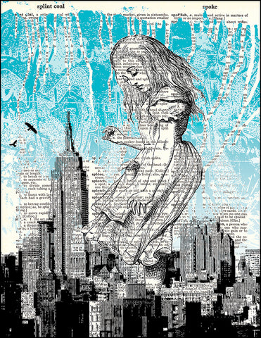 An image of a(n) Alice in NYC Dictionary Art Print.
