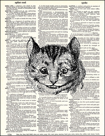 An image of a(n) Cheshire Cat Dictionary Art Print.