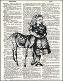 An image of a(n) Alice with Deer Dictionary Art Print.