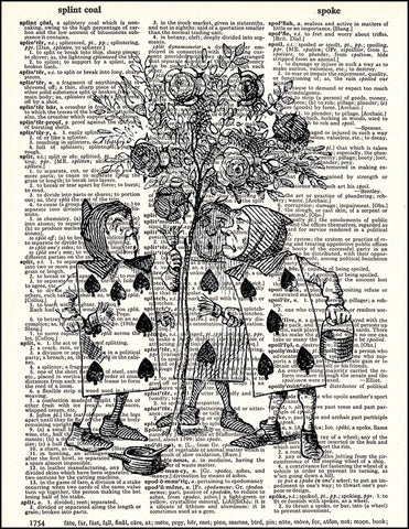 An image of a(n) Painting the Roses Dictionary Art Print.