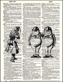 An image of a(n) Tweedle Dee and Dum Dictionary Art Print.