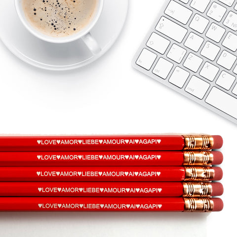 Love Languages - Inspirational Pencils