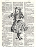 An image of a(n) Drink Me - Alice Dictionary Art Print.