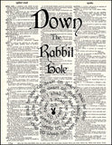An image of a(n) Down The Rabbit Hole Quote Dictionary Art Print.