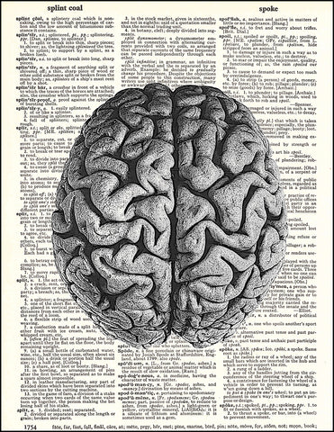 An image of a(n) Human Brain Dictionary Art Print.