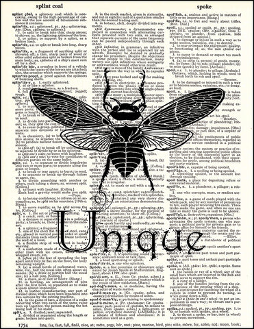 An image of a(n) Bee Unique Dictionary Art Print.