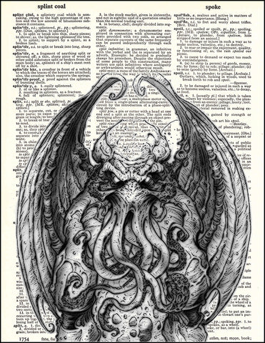 An image of a(n) Chthulhu Dictionary Art Print.