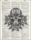 An image of a(n) Day of the Dead Sugar Skull Dictionary Art Print.