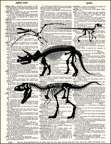An image of a(n) Dinosaur Skeleton Collection Dictionary Art Print.